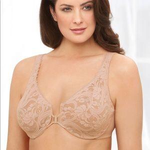 Glamorise Wonderwire Front Close Bra Plus Size
